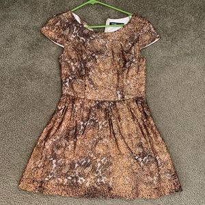 Kenzie copper gold mini dress
